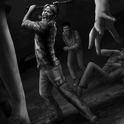 Elias santos ilustracion interior la huella del cazador 2 by santosart d8mk0ip