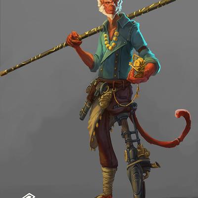 Nicolas amoroso colors monkey king fond