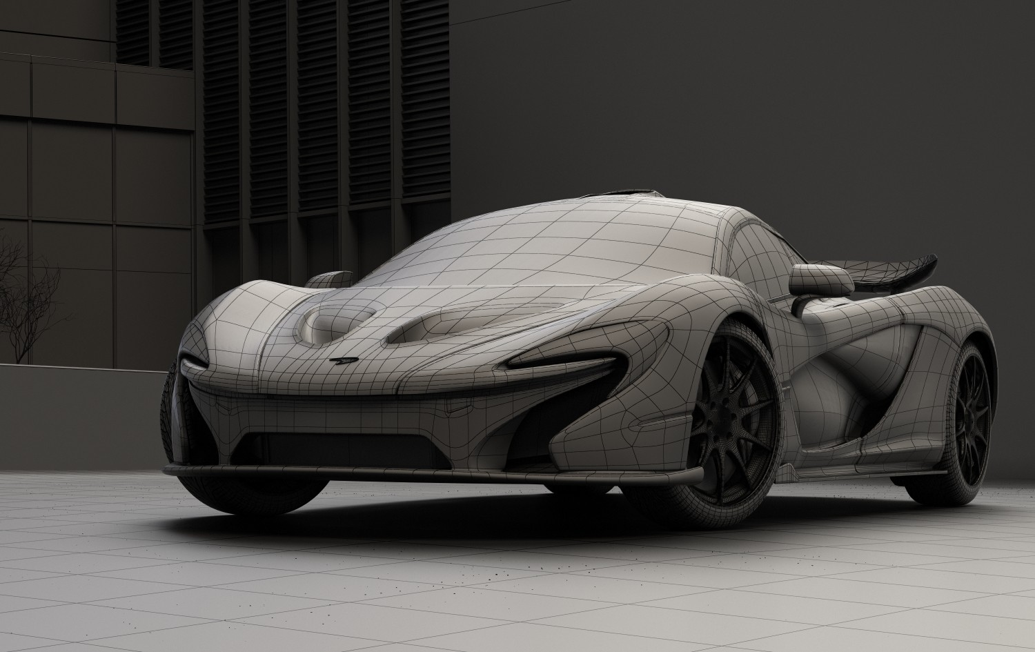 Bruno moreira mclaren p1 wireframe rgb color