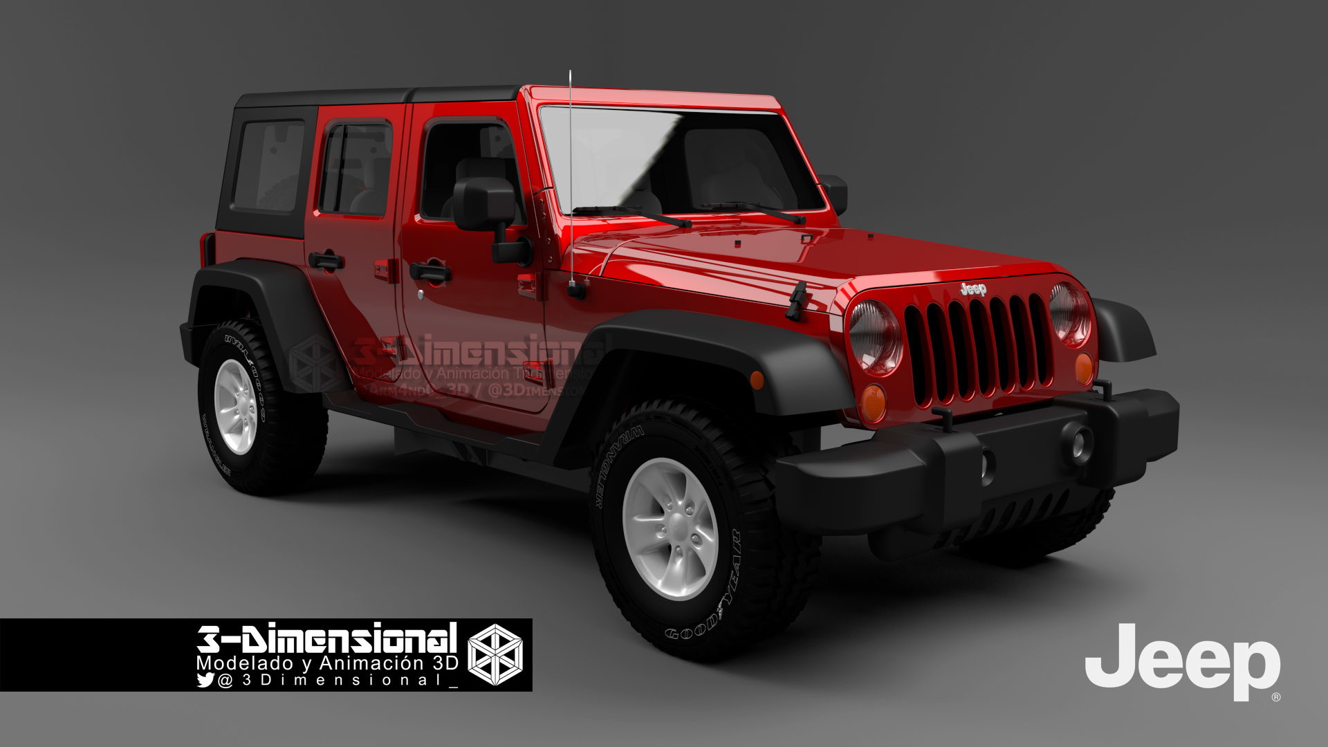 3 dimensionarte jeep wrangler 2007. Black Bedroom Furniture Sets. Home Design Ideas