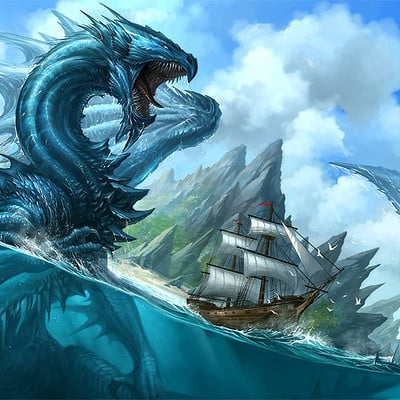 Sandara tang blue dragon by sandara
