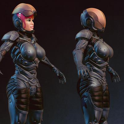 Sascha kozacenko bionic girl sculpt small