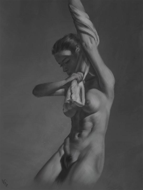 Angel ganev female torso study 1 day 190 by angelganev d9k43bx