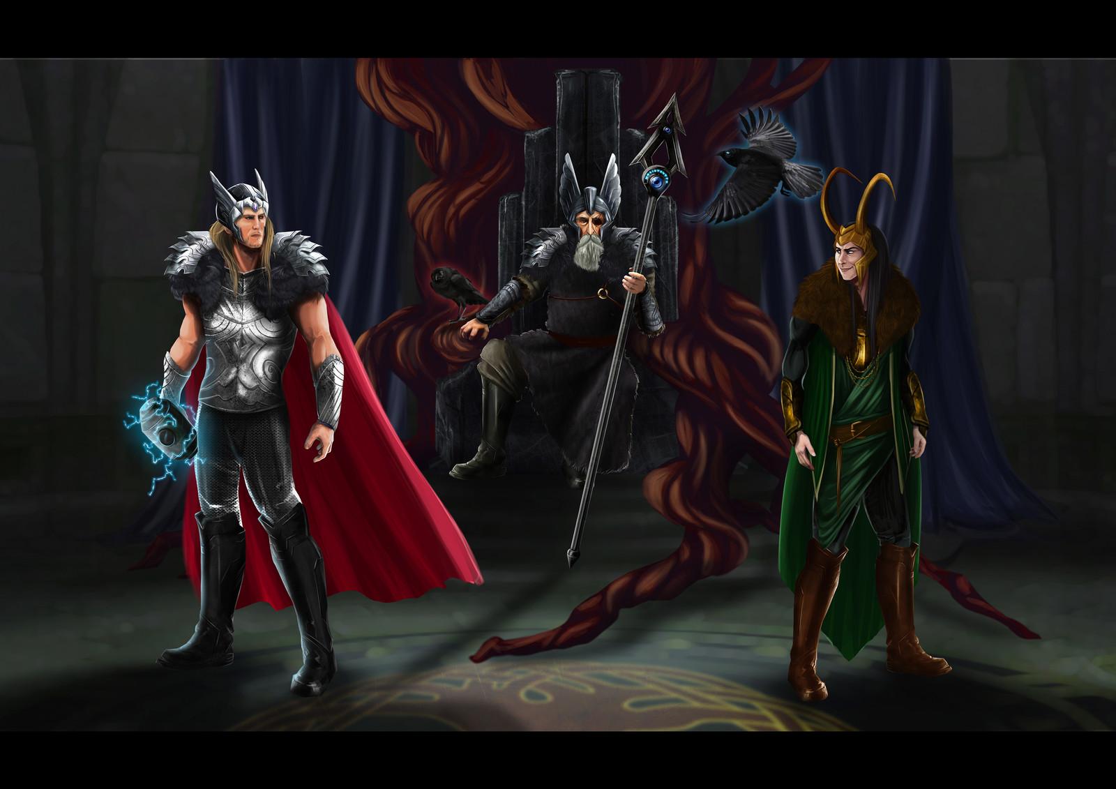Odin, Thor & Loki