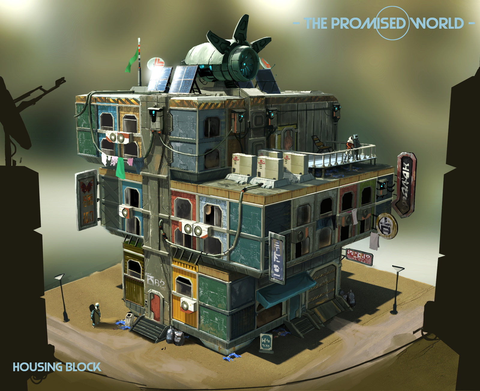 Colony housing block concept
