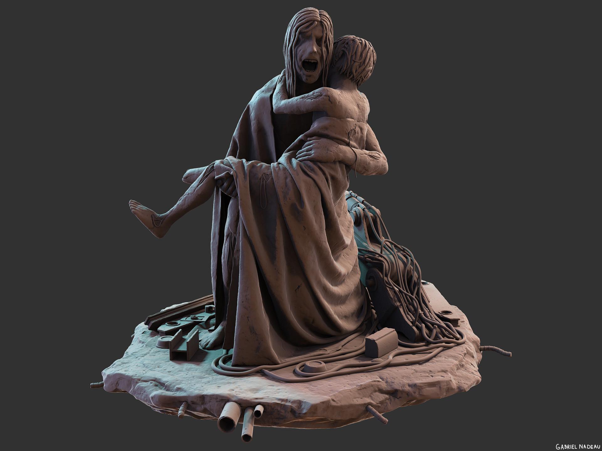 Gabriel nadeau statue final 1