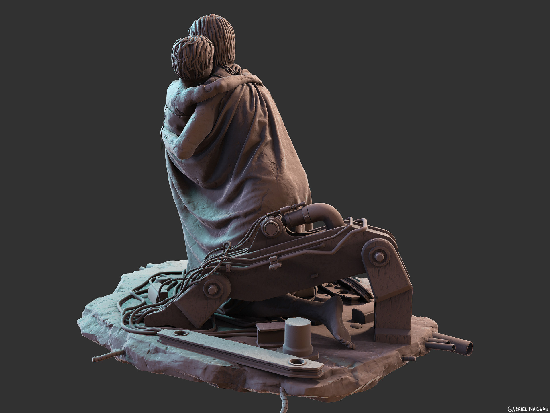 Gabriel nadeau statue final 64