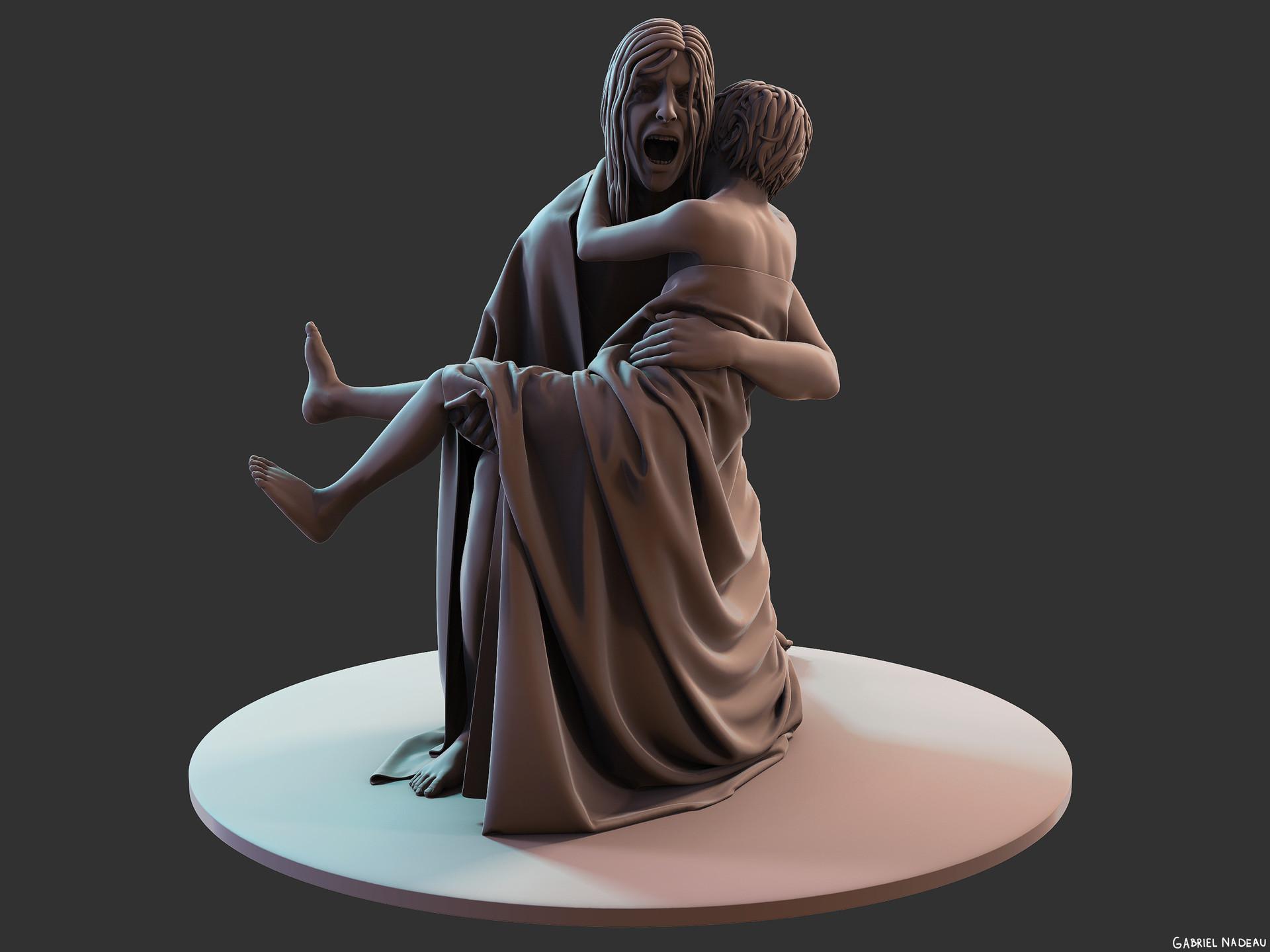 Gabriel nadeau statue clean 1