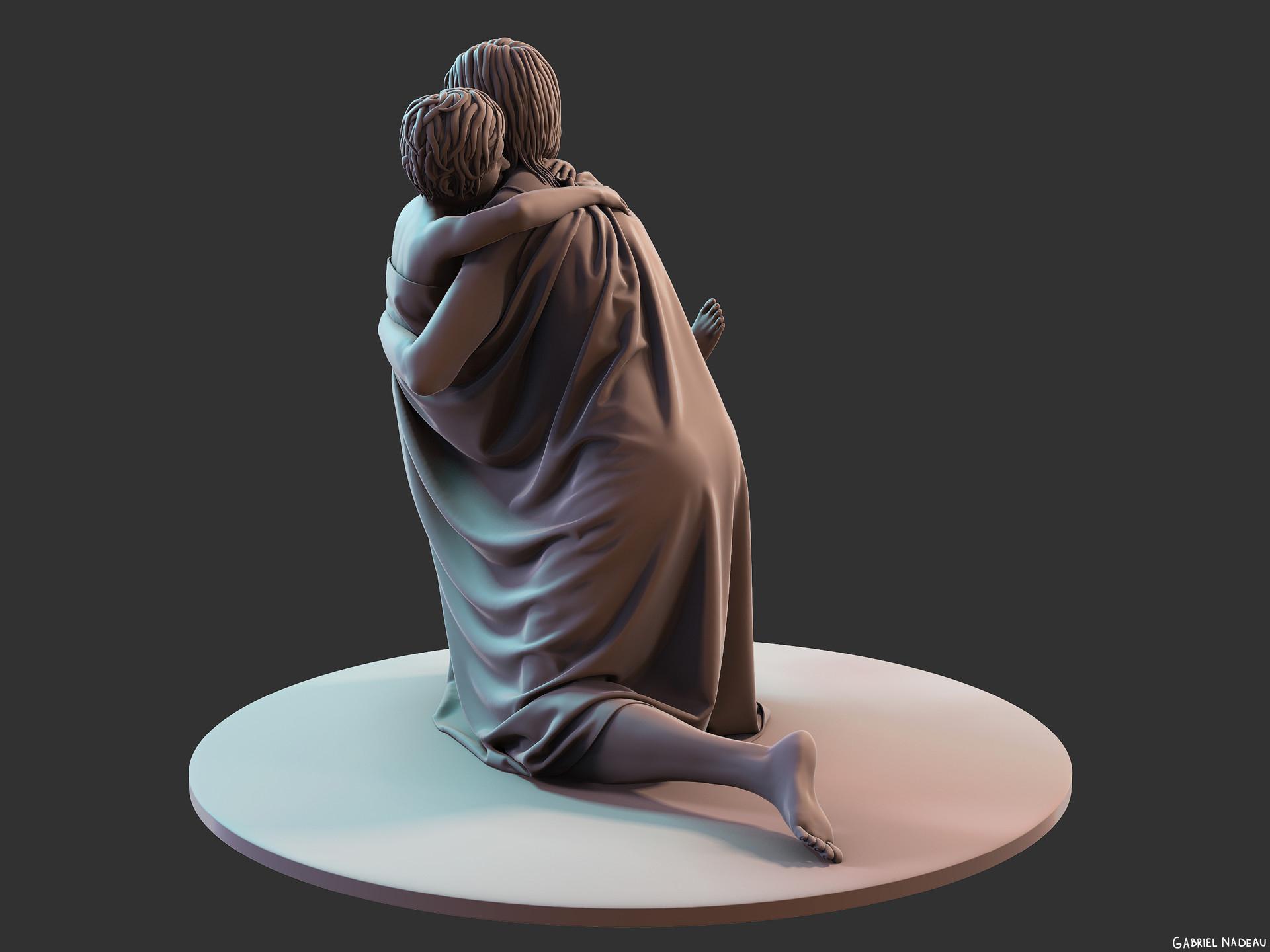 Gabriel nadeau statue clean 64