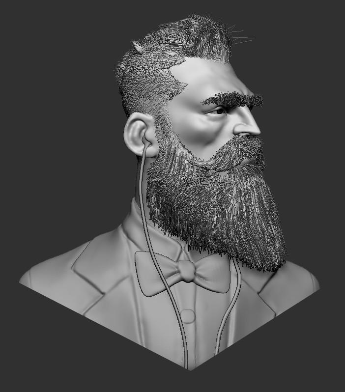 Beard with music