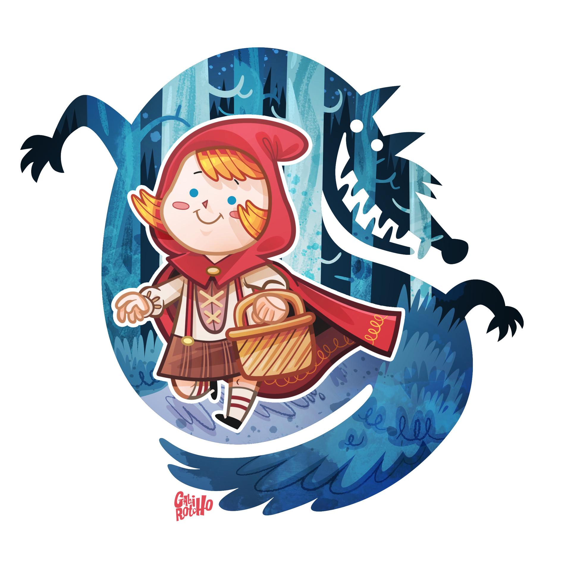 Gabirotcho chapeuzinho vermelho