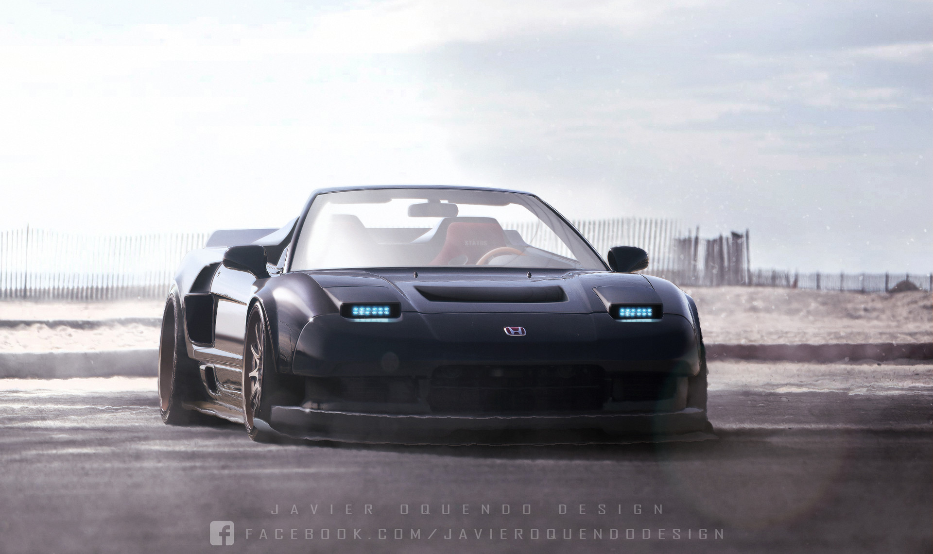 Artstation Widebody Honda Nsx Spider Javier Oquendo