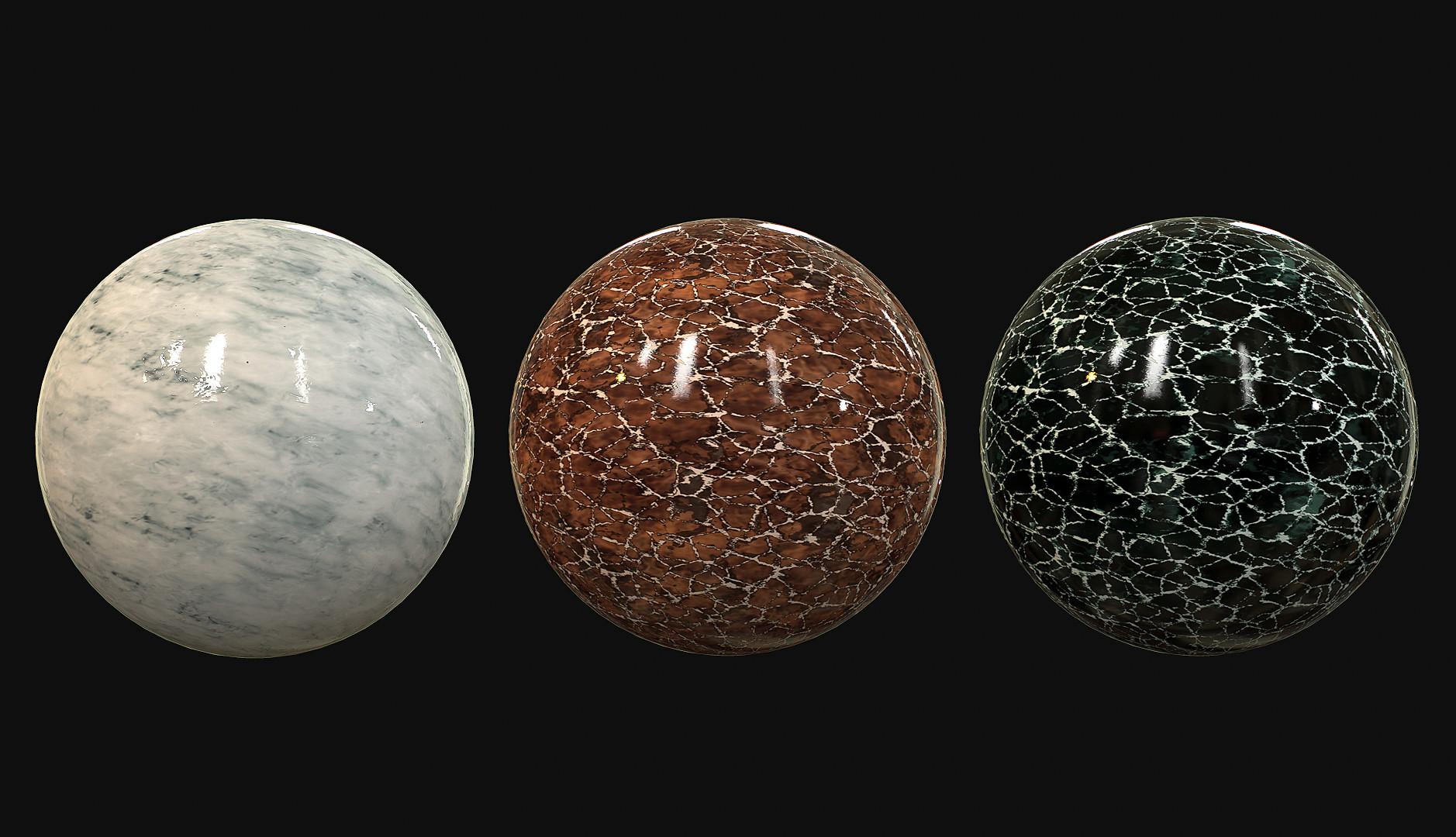 Romain pommier marble sphere