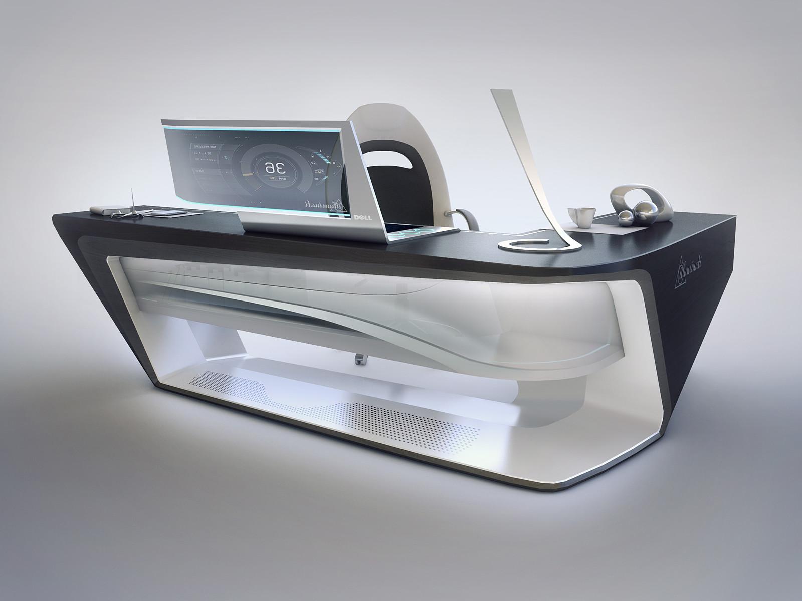 Modern Desk Office. Modern Desk Design Office H