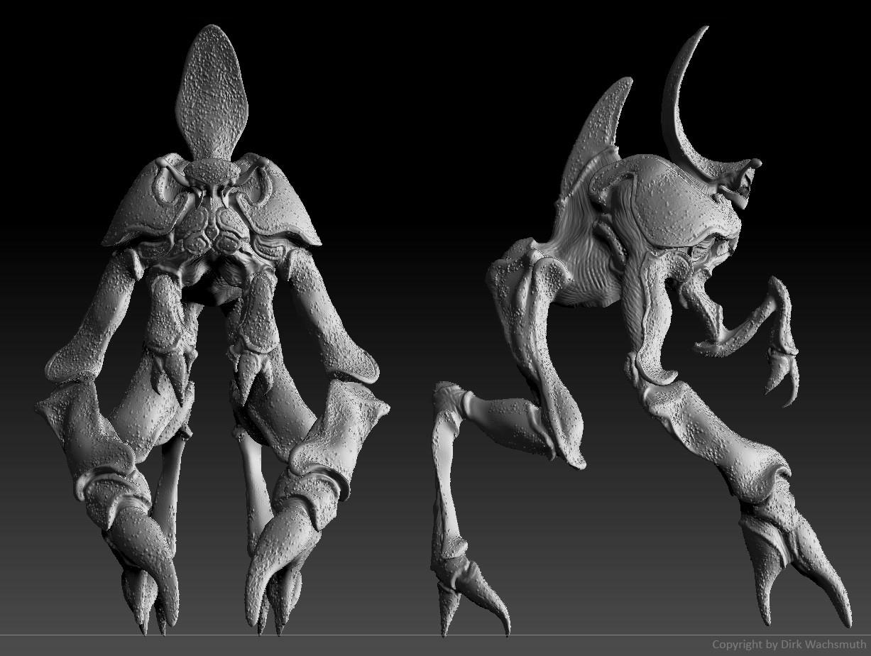 Dirk wachsmuth crab lurker zbrush screenshot