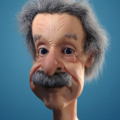 Souvik karmakar einstein caricature finished 2