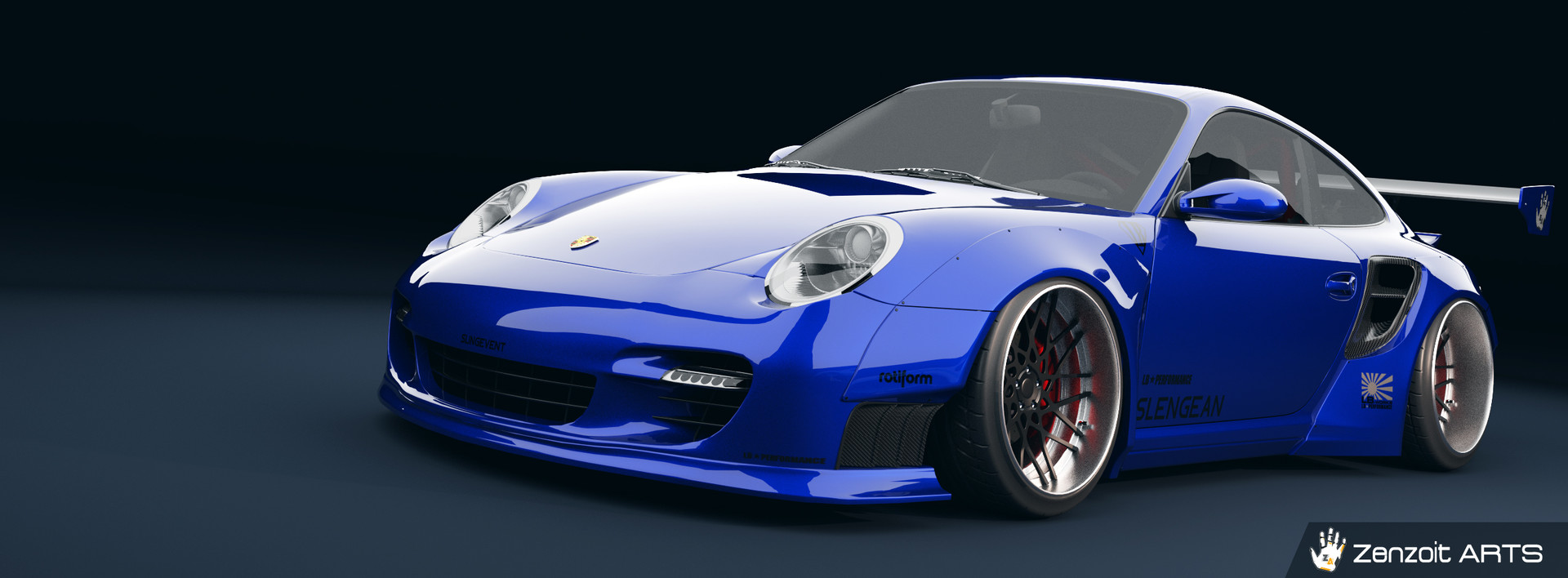 Zenzoit Arts 3d 2007 Porsche 911 Tubro Liberty Walk Kit