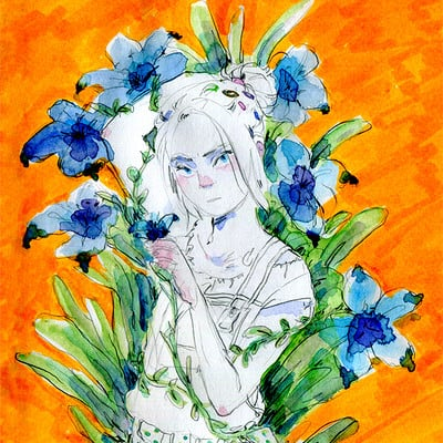 Sol all blue lily lily blue firmado