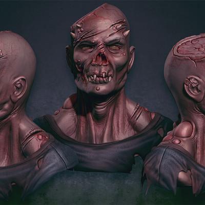 Sascha kozacenko zombi demon sculpt color