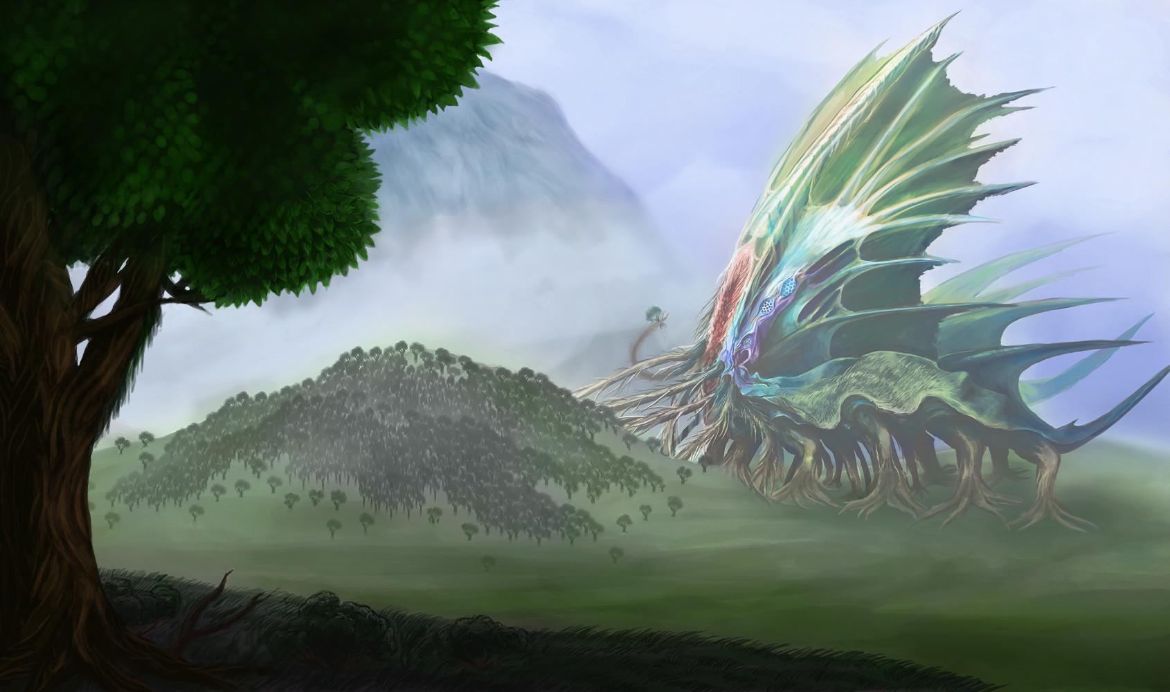 Orm irian giant tree devourer by catharina wendland