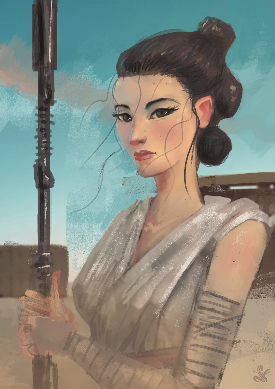 rey sketch