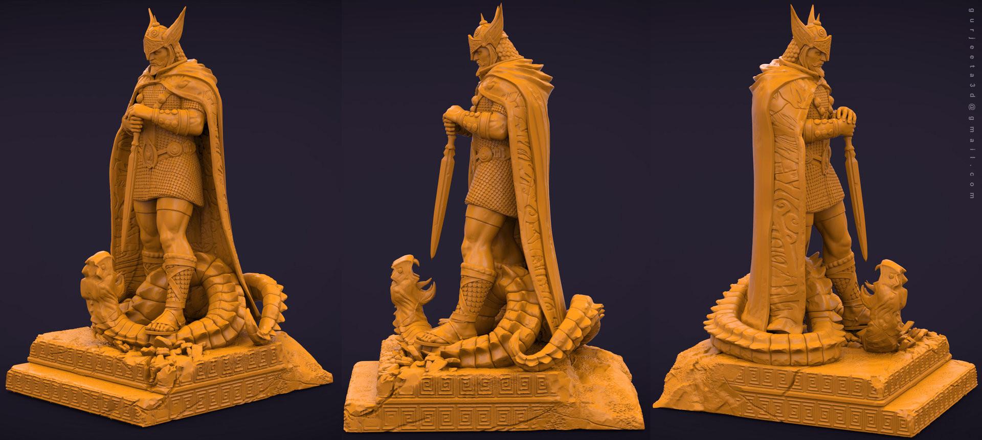 Gurjeet singh gurjeet singh collectible talos clay