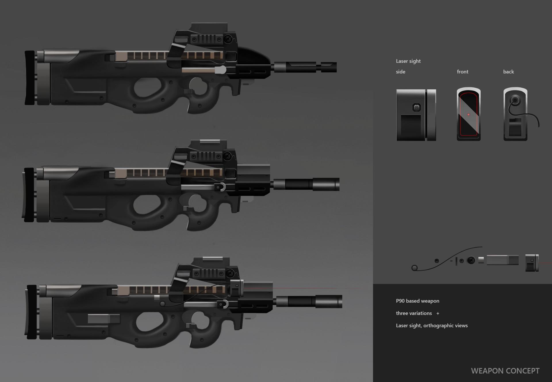 Adam Williams P90 Weapon Concept