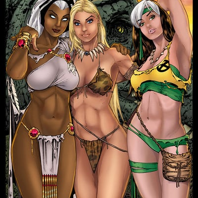 Matt james storm shanna and rogue in the save land by mattjamescomicarts d9neszo