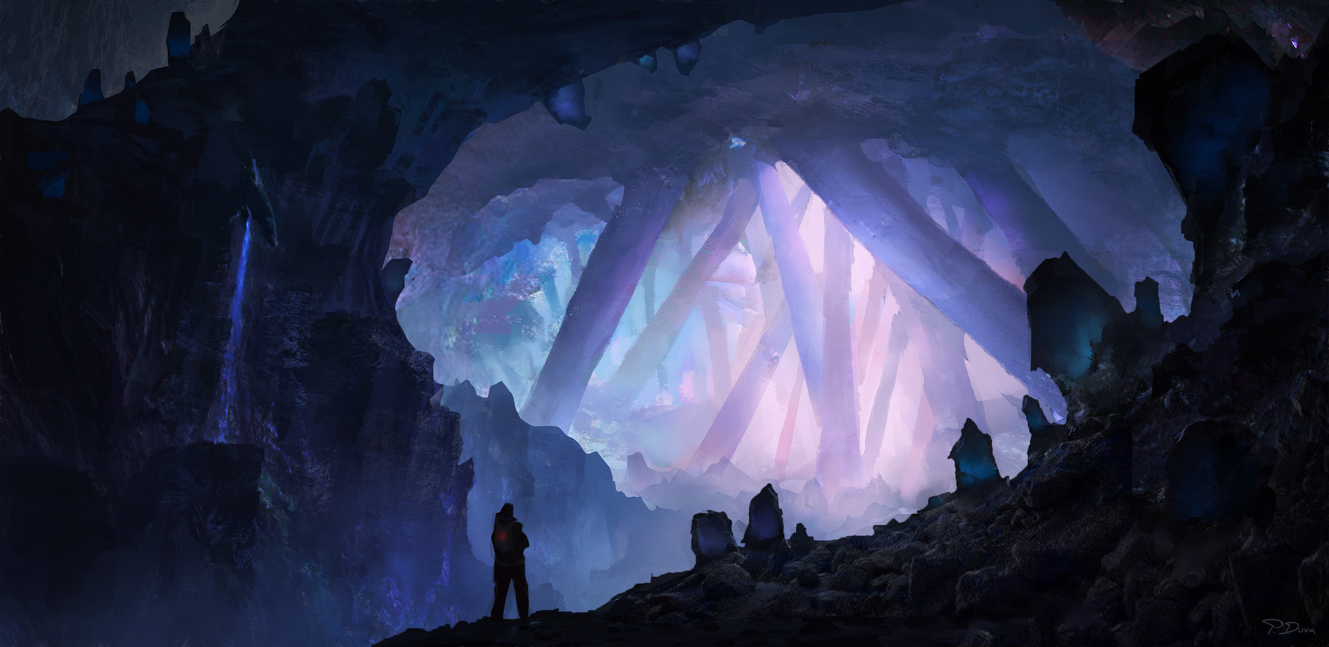 Artstation crystal cave piotr dura for Paintings of crystals