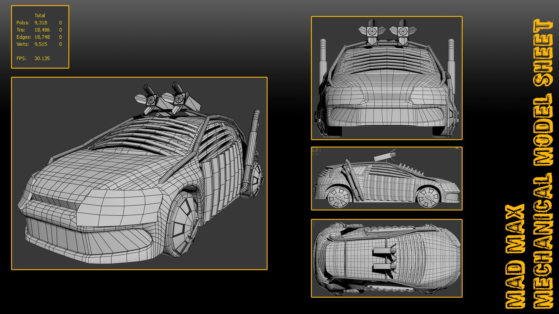Justin Grace University Work Year 2 3d Art Mad Max Engine Diagram Modelsheetcar