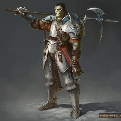 Magnus noren half orc mercenary1