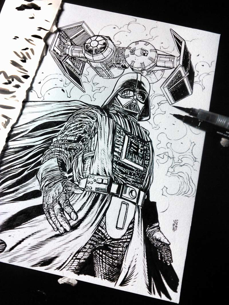 Darth Vader art book commission