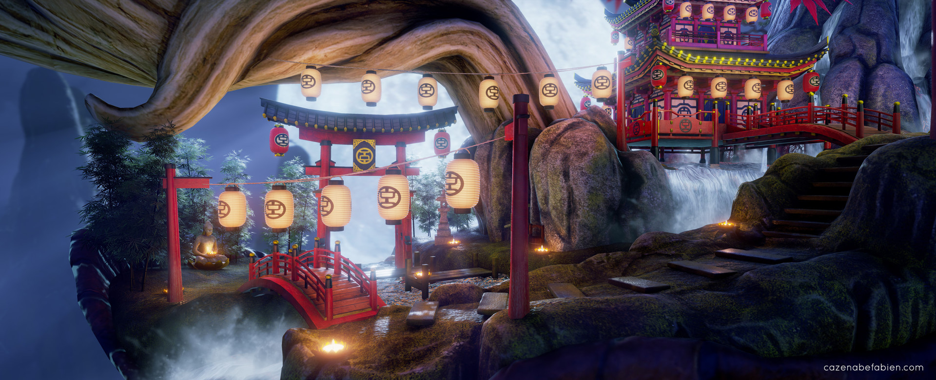 Fabien cazenabe lost japanese temple 3d environment art design unreal engine 09