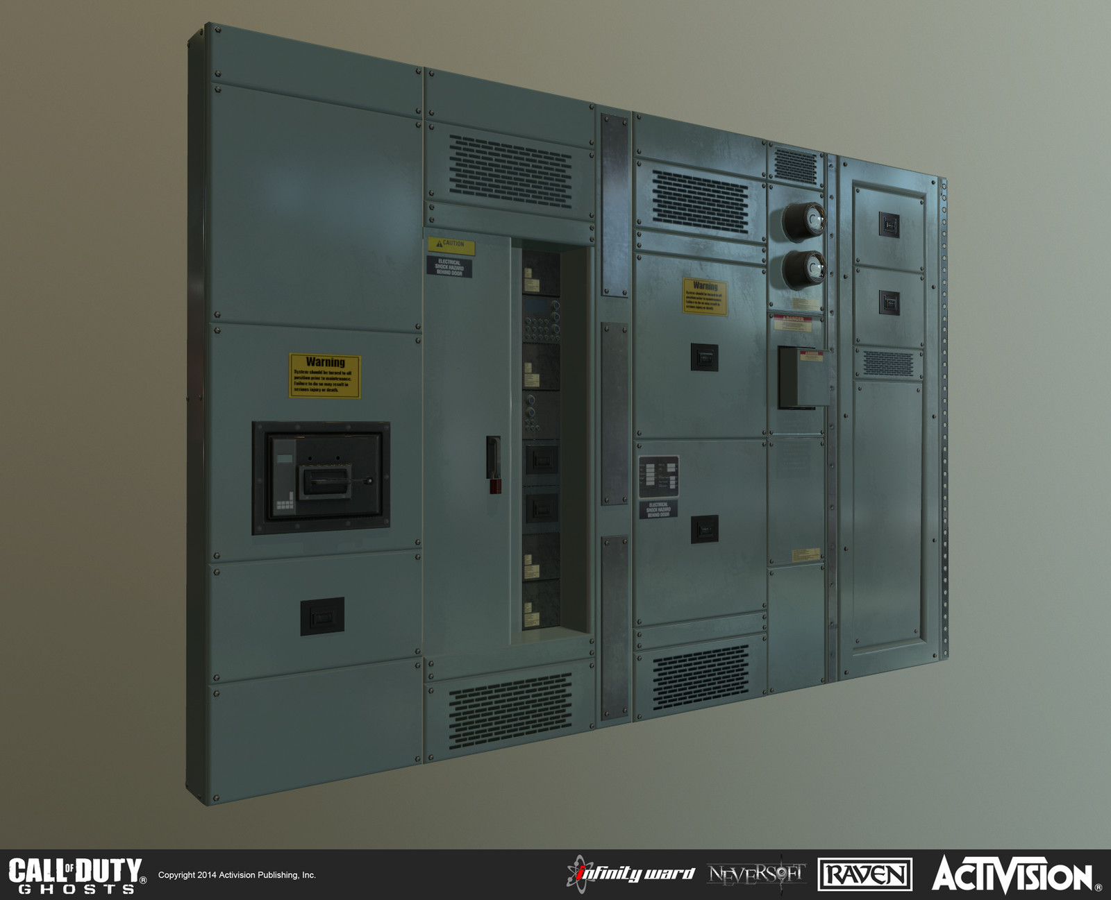"Created modular electric panel set for use in single-player mission ""Federation Day"""