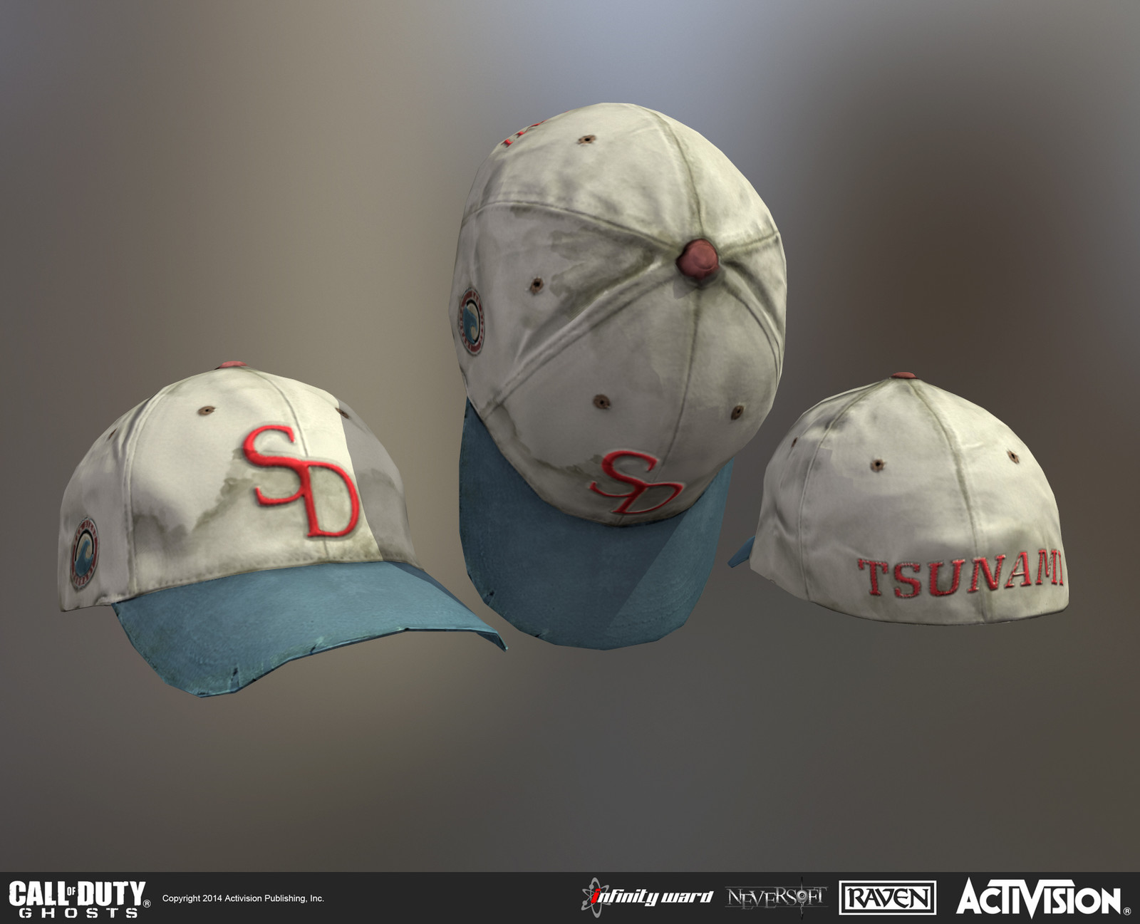 Created baseball cap. Baked down from scan data and textured by me.