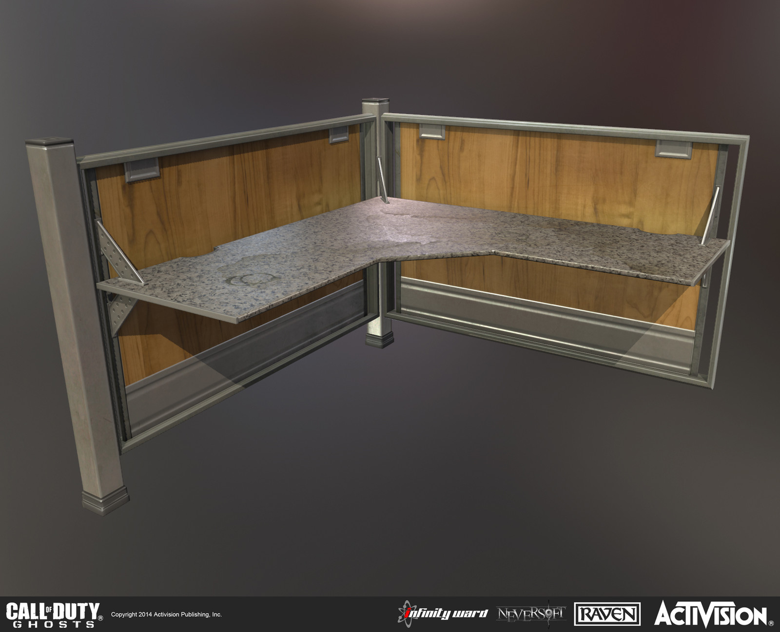 Created desk for use in the highrise building.