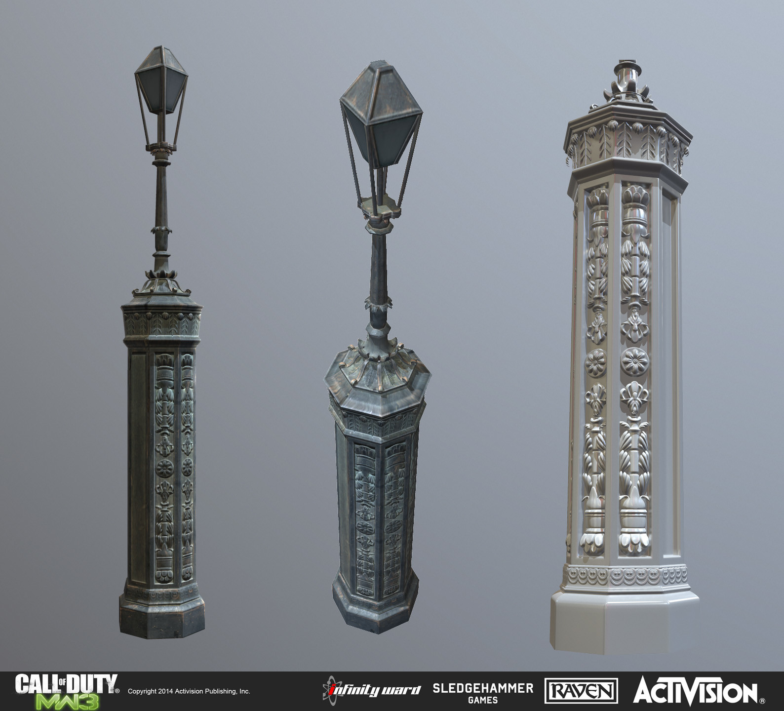 Lamp asset created for the multiplayer map Parish.