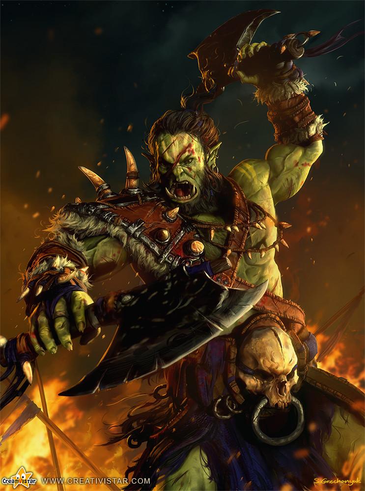 Ork Card Illustration