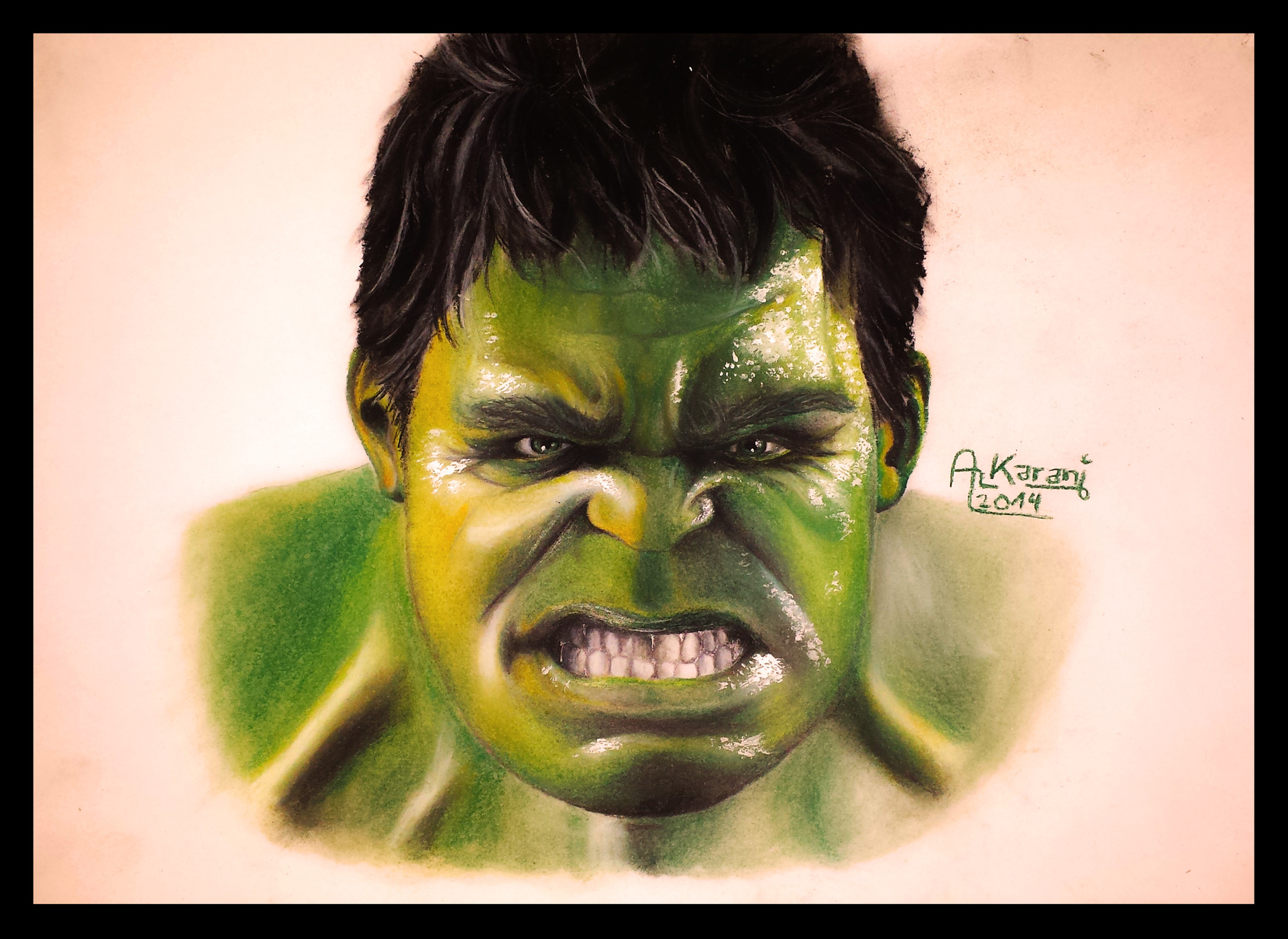 68a9d703a ArtStation - The Hulk Portrait Drawing, Red Flash Art