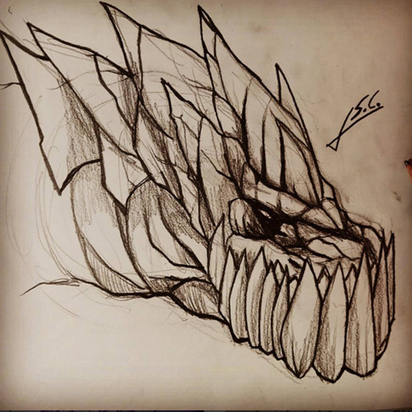 Javier Santamaria Carpio Dragon Fast Sketch