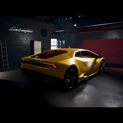 Garage Lamborghini Unreal Engine 4