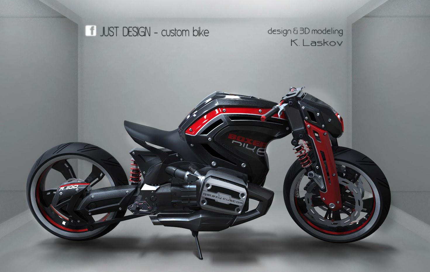 Artstation Bmw Custom Bike Konstantin Laskov