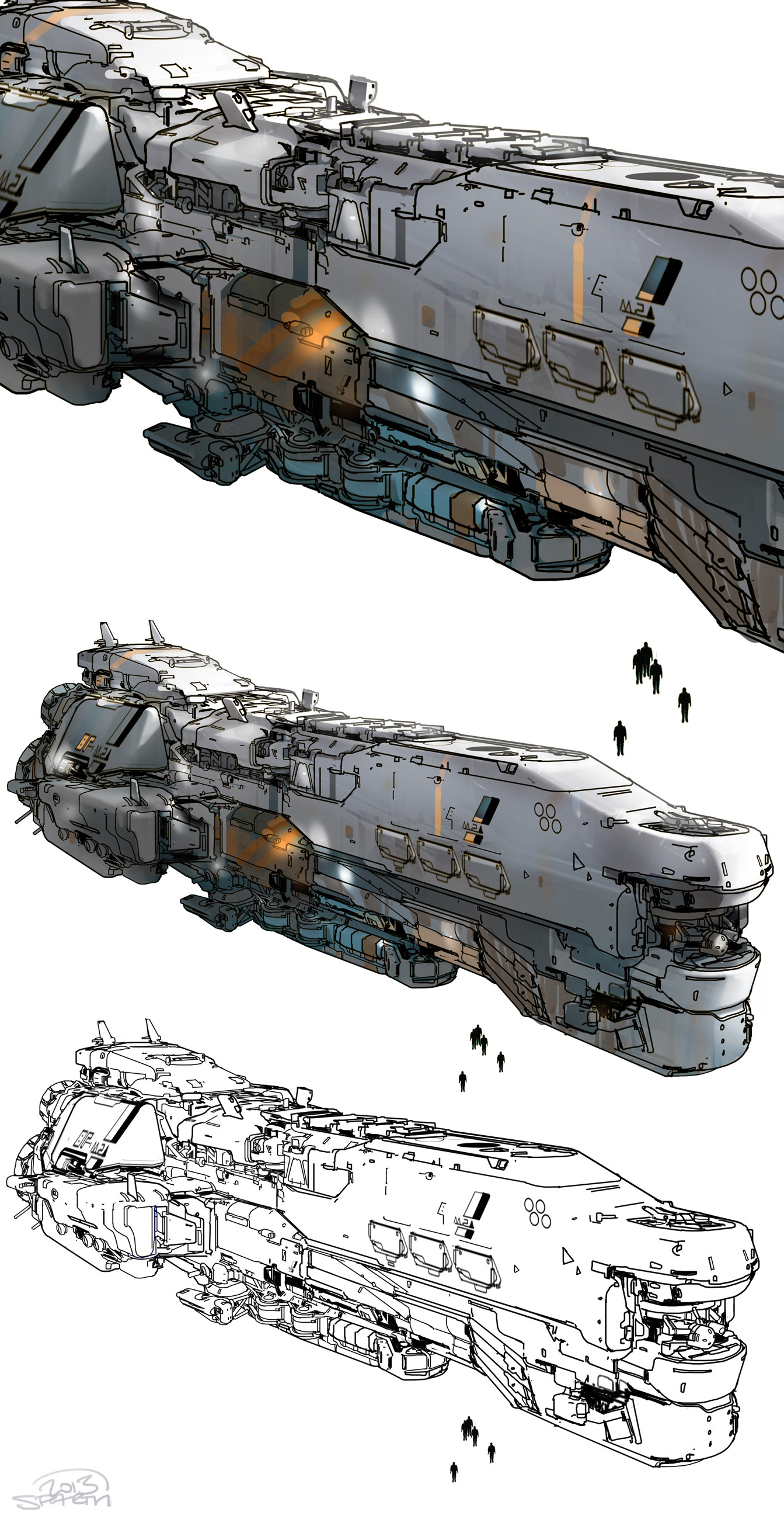 Sparth sparth halo5 meridian spaceship