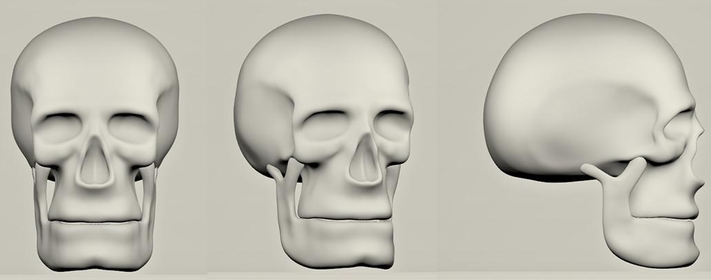 Skull Modelsheet Turntable