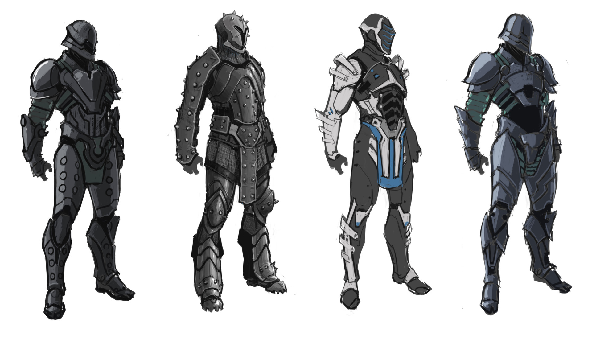 how to draw infinity blade characters