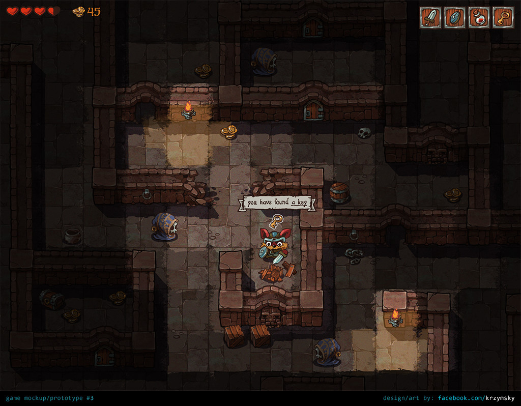 ArtStation - game mockup #3 (dungeon), Krzysztof Maziarz