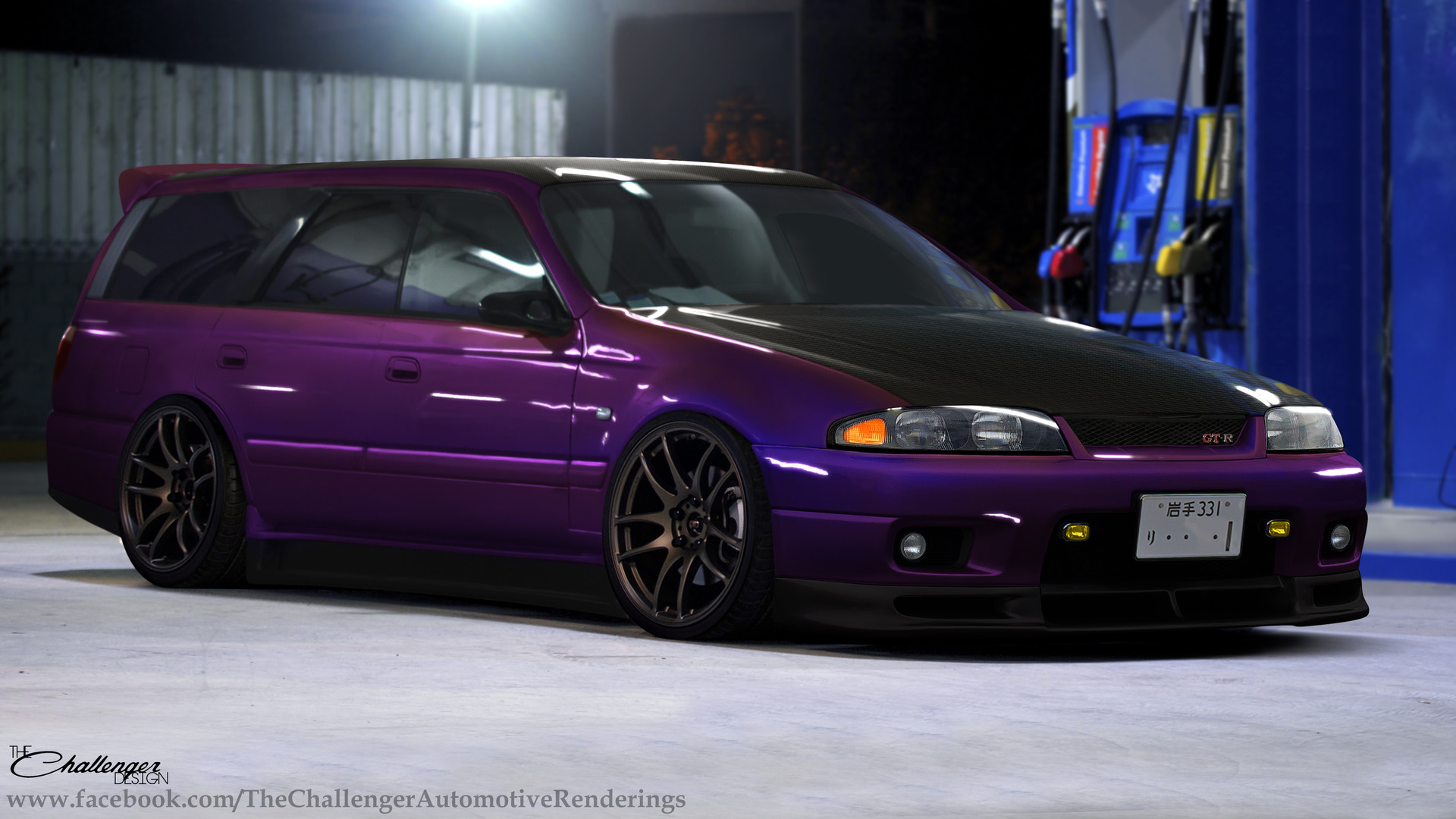 Artstation Nissan Stagea Skyline R33 Midnight Purple Abimelec