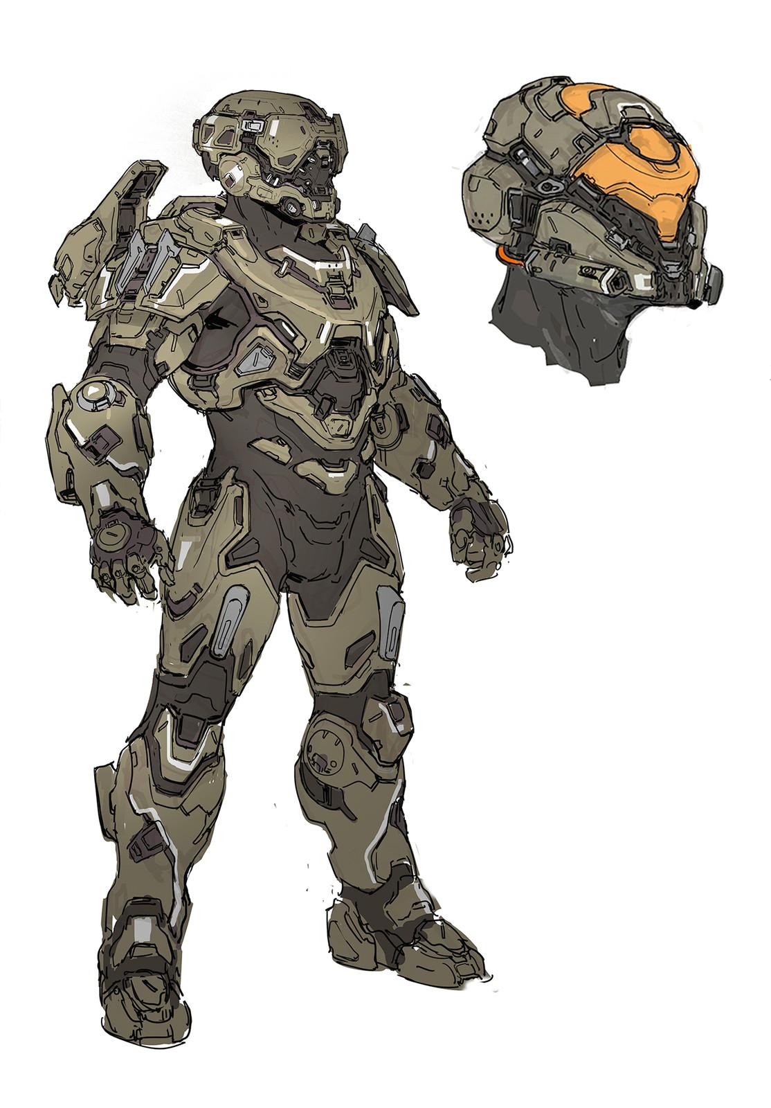 Halo 5- Recluse Armor design