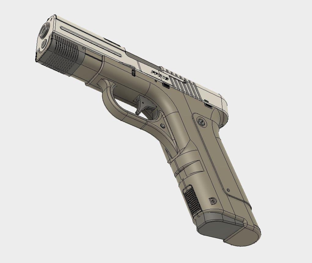 artstation - pistol design fpd 16 (fusion 360 tutorial), travis davids