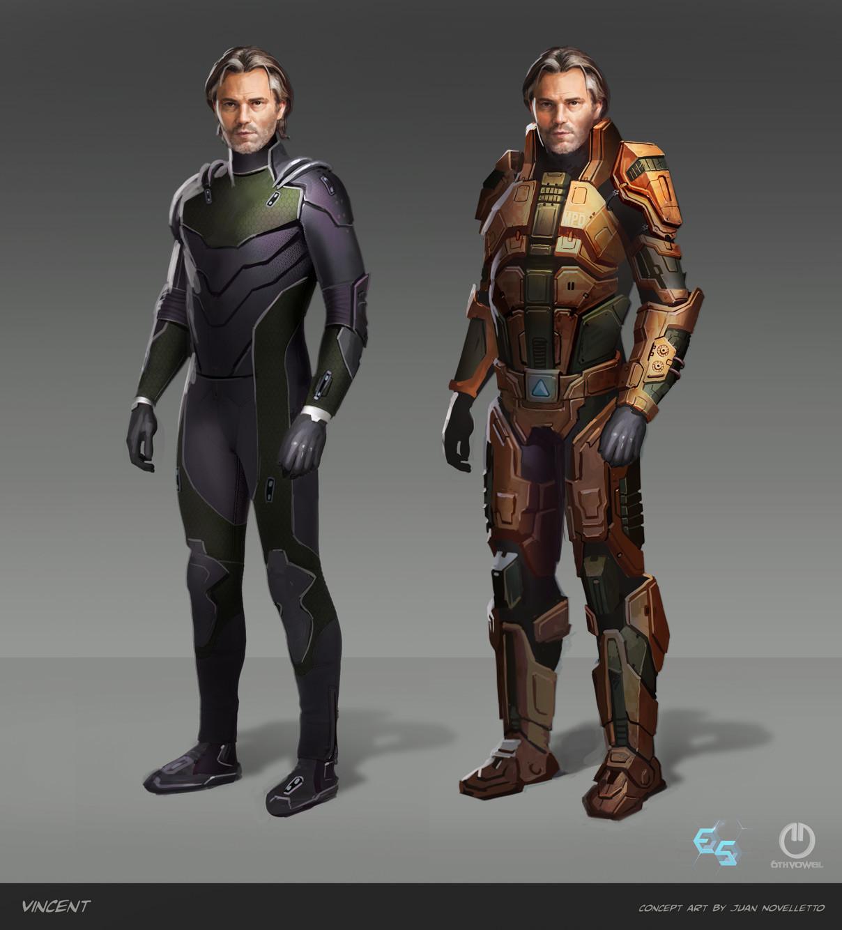 Vincent in his combat armor